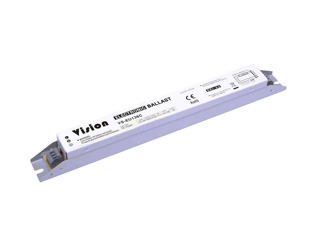 Line Current 0.42A Fluorescent Light Ballast 1 X 36W 110V PF > 0.9 Abnormally Protection
