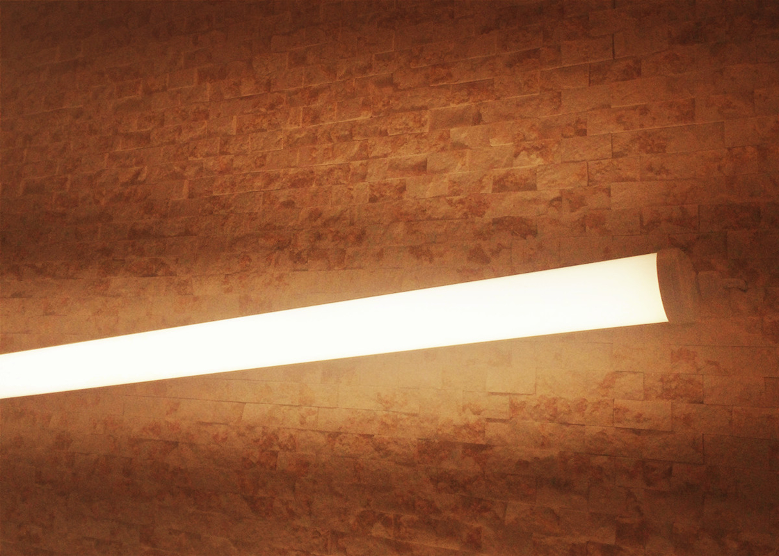 Dustproof Warm White 4ft LED Batten Fitting High Brightness For Parking Lots